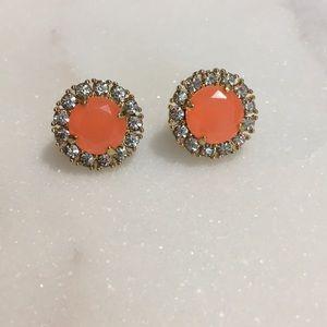 Kate Spade Gold and Orange Earrings